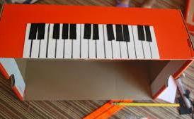 cardboard keyboard
